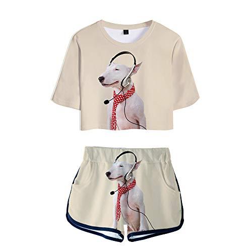 Preisvergleich Produktbild WOONN Shorts und Kurze Ärmel,  Shorts mit Welpen-Anime-Print passen zu Sport,  Freizeit und Pyjamas