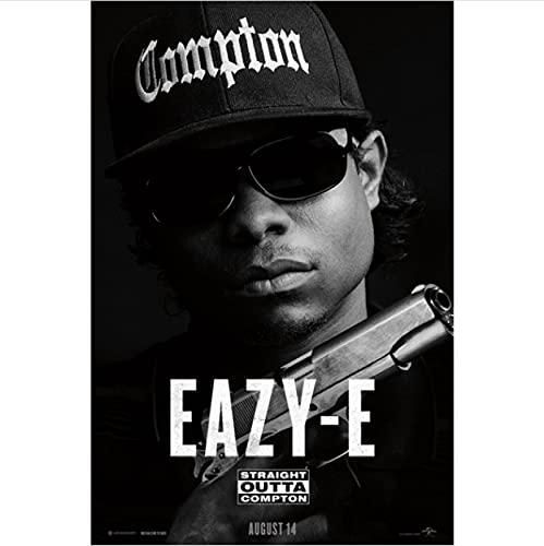 ZzSTX Wall Art Poster Dipinti Straight Outta Compton Rapper Hip Hop Music Biografia Poster Stampe su Tela Home Decor50X70 Cm Senza Cornice