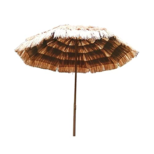JTING Paraguas de Paja Imitación de 5,5 pies 1,7m Sombrilla Impermeable Ignífugo...