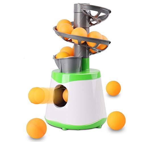 ASDQWER Remitente lanzando Mesa automática de Lazo 10 Ping Pong Bolas Robot Raqueta Deportes Mesa Tenis Entrenamiento, Tenis de Mesa Robot de Entrenamiento,Verde
