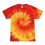 Colortone Tie Dye T-Shirts Kids 6-8 (SM) Blaze