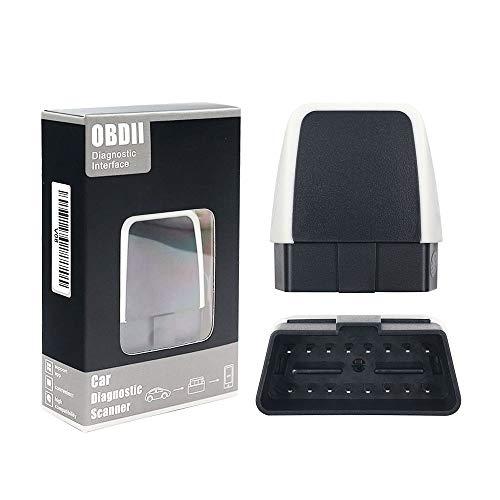 LVYE1 MRMF OBD2 Bluetooth Coche Diagnóstico Escáner inalámbrico OBD2 Bluetooth Herramienta OBD Compatible con iOS, Android & Windows Dispositivo