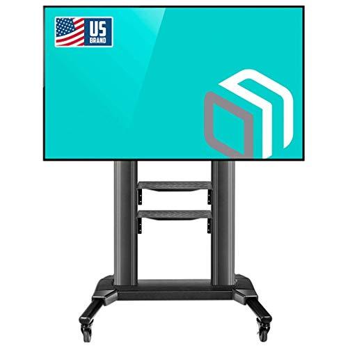 ONKRON Carro TV Soporte Móvil para Pantallas de TV LCD LED OLED de 42 a 80 de hasta 45 kg VESA Max 700 x 400 mm Pie para TV base para TV