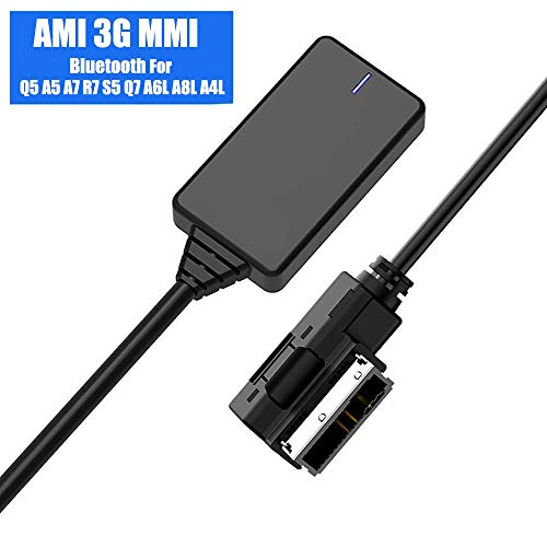 Weletric AMI MMI MDI Interface Bluetooth 5.0 Audio Music Input Adapter AUX Receiver Cable Adapter for Audi Q5 A7 S5 Q7 A6 A8 (for MMI 3G Only) … (Black3)