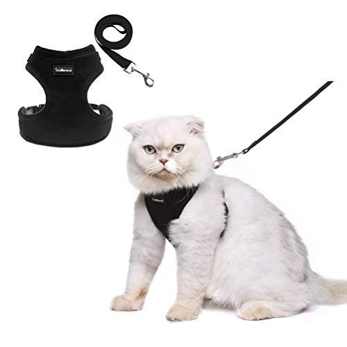 SCENEREAL Co. Kit de arnés, para gatos a prueba de grasa, ajustable, para gatos y cachorros pequeños