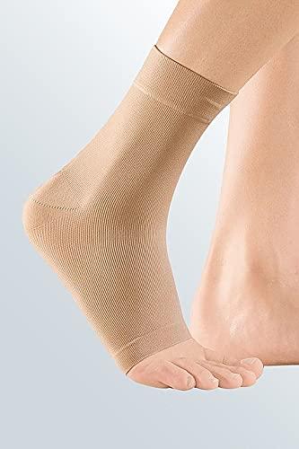 medi Zweizug Knöchelbandage - Fußbandage unisex | Größe III | Bandage zur Sprunggelenk-Weichteilkompression | Beidseitig tragbar |caramel