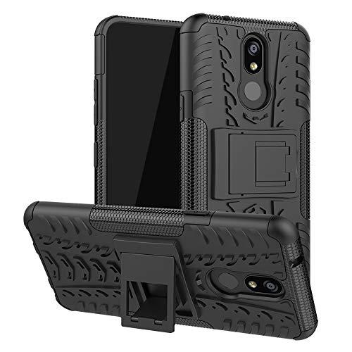 LFDZ LG K40 Hülle, Abdeckung Cover schutzhülle Tough Strong Rugged Shock Proof Heavy Duty Case Für LG K40 / K12 Plus,Schwarz