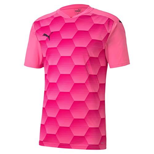 PUMA Herren teamFINAL 21 Graphic Jersey Trikot, Pink Glimmer-Beetroot Purple, M