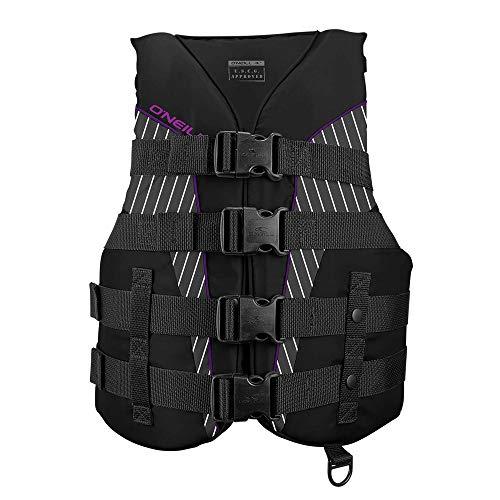 O'Neill Women's SuperLite USCG Life Vest,Black/Smoke/Black/UV,Large