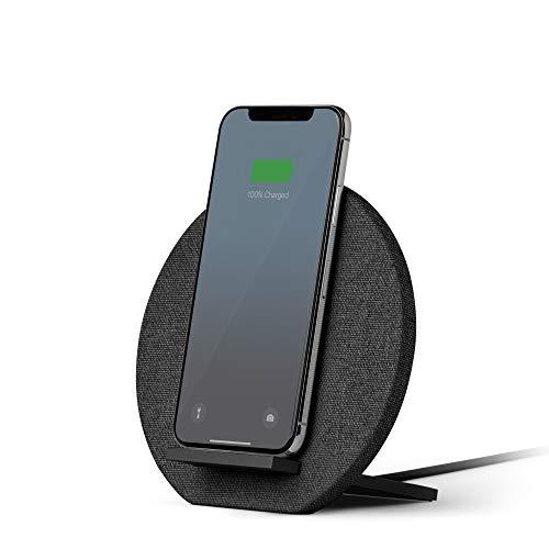 Native Union Dock kabelloses Ladegerät- [Qi Zertifiziert] 10W Schnellladegerät für alle kabellos ladenden Qi Geräte-Kompatibel mit iPhone 11/11 Pro/11 Pro Max(Anthrazit)