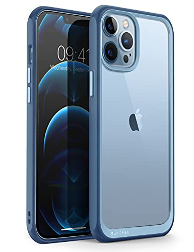 SUPCASE Unicorn Beetle Style Series Case for iPhone 13 Pro Max (2021 Release) 6.7 Inch, Premium Hybrid Protective Clear Case (Azure)