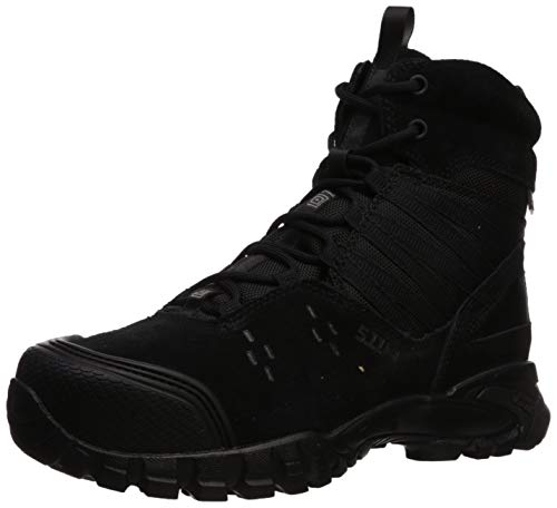5.11 Tactical Men's Union Waterproof 6-Inch Work Boots, Shock Absorbing Insole, Black, 40.5 EU, Style 12390