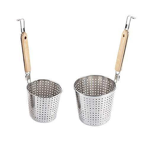 SM SunniMix Cestello per Pasta in Acciaio Inox Spider Racchetta per Spaghetti Gnocco S L