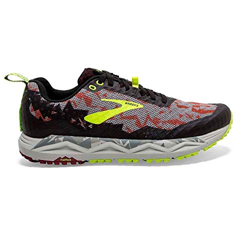 Brooks Caldera 3, Zapatillas de Marcha Nórdica para Hombre, Multicolor (Biking Red/Black/Nightlife 650), 45 EU