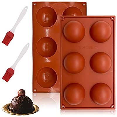 2 Packs Silicone Mold for Chocolate, 6 Holes Se...