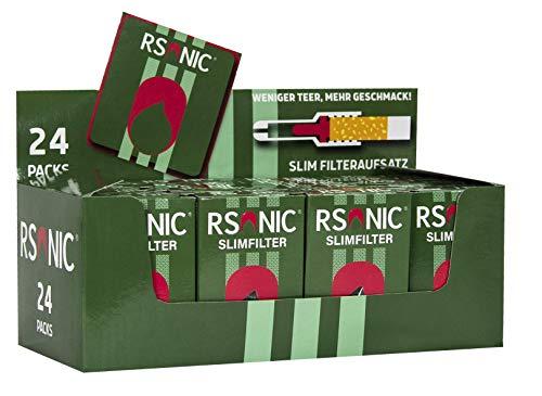 RSonic -Slim Zigarettenfilter Nikotinfilter Zigarettenspitzen Filteraufsatz 10 x 25 600 Mikrofilter + 50 Adapter