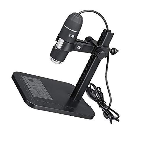 heacker 1600x 8LED USB Microscope numérique Portable Microscope électronique Règle de Mesure Loupe Caméra 24bit