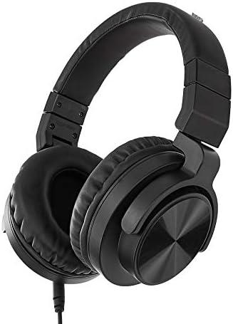 Amazon Basics Over-Ear Studio Monitor Headphones – Black