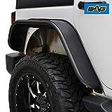 EAG Rear Fender Flares Flat Styles Steel Fit for 07-18 Wrangler JK