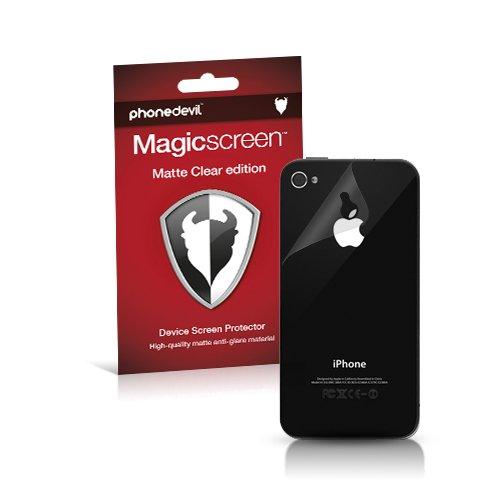 MediaDevil Pellicola Protettiva Posteriore per iPhone 4 e iPhone 4S : Matte Clear (Opaca, Anti-Riflesso) - (2-Pezzi)