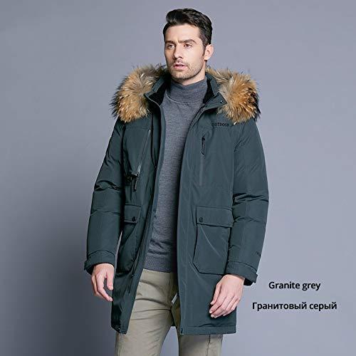 DPKDBN donsjack voor heren, winter, donsjack, afneembare hoed, herenjas, dikke warme bontkraag kleding