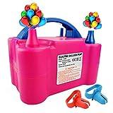 WALLE Ballon pump Balloon Blower Pump - Mini Electric Balloon Pump Portable Air Pump for Inflator Colored Balloons, Birthday, Wedding, Festival Decoration(Pink)