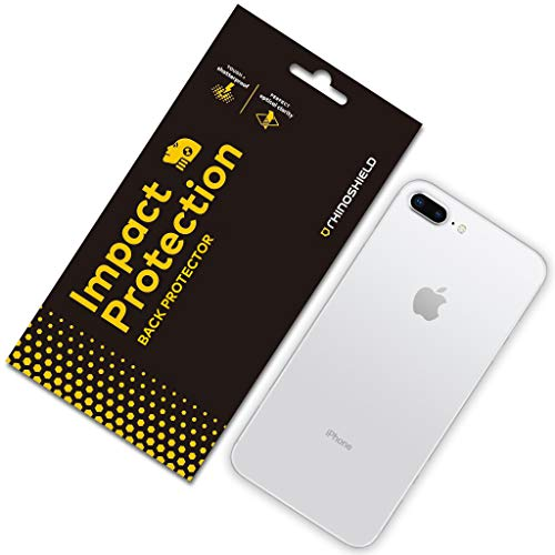 RhinoShield Back Protector compatible with [iPhone 8 Plus / 7 Plus]   Impact Protection - High Strength Impact Damping/Dispersion Technology - Clear and Scratch/Fingerprint Resistant Protection