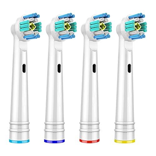 Testine spazzolino elettrico per Oral-B,testine ricambio compatibile con Oral B Braun, Pro 7000, 1000, 8000, 9000, 1500, 5000, bambini, Vitality & More (pack of 4)