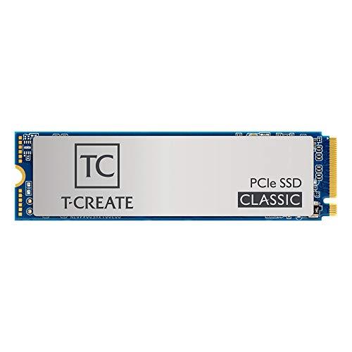 TEAMGROUP T-Create Classic 2TB M.2 PCIe 2280 NVMe 1.3 interne SSD, bis zu 2100MB/s Design für Creators Gen3x4 Solid State Drive, Terabyte Written TBW 1000TB - TM8FPE002T0C611
