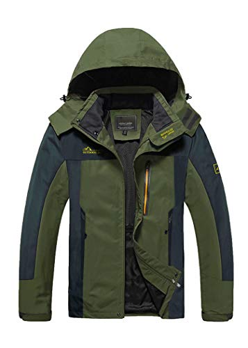 Mens Windbreaker Jackets Rain Jacket Mens Lightweight Jacket Waterproof Jackets For Men Fishing Camping Jacket Outdoor Hiking Rain Coat Multi Pocket