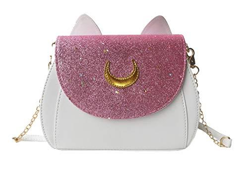 Moonlitt Luna Cosplay Sailor Moon Handtaschen Katzenohren Crossbody Schultertasche für Frauen