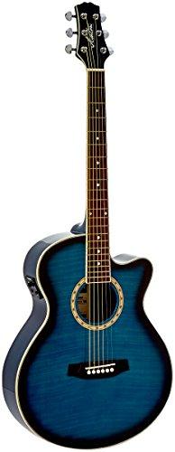 Ashton SL29CEQTBB Guitarra acústica eléctrica - color azul
