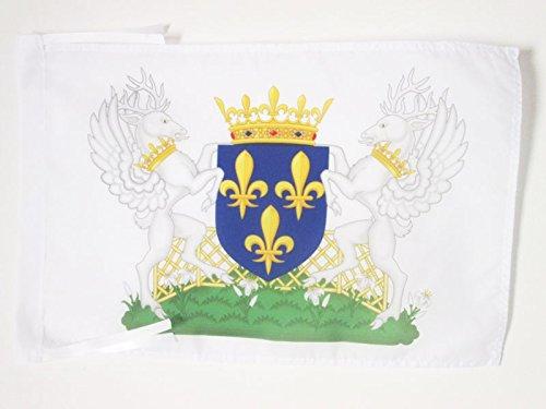 AZ FLAG Flagge Wappen KÖNIGREICH Frankreich Charles VII 45x30cm mit Kordel - KÖNIGREICH DER Franzosen Fahne 30 x 45 cm - flaggen Top Qualität