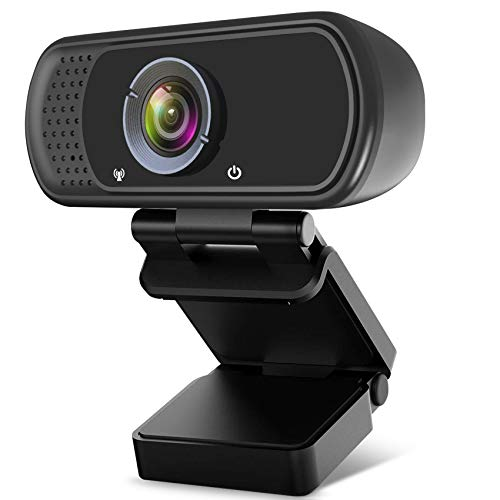 Streaming Webcam,HD Webcam with Microphone for Desktop Laptop,110°Wide Angle Live-Streaming Web Camera,Computer Camera for Windows Mac OS,for Conferencing,Video Calling,Gaming,OnlineClasses.
