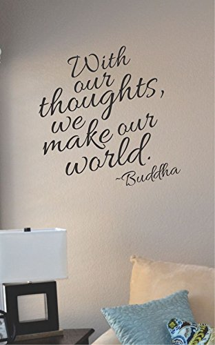 JS Artworks with Our Thoughts We Make Our World Buddha Vinyl Wall Art Decal Sticker