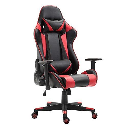 SPRINGHUA. Video Premium Chair Computer Gioco Sedia del Gioco della Sedia ergonomica Sedia Girevole con Supporto Lombare (Colore: Foto a Colori, Dimensione: 70X70X125CM)