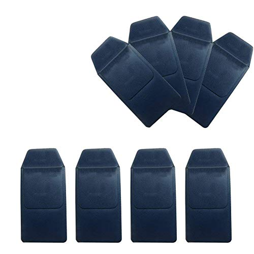 TEKEFT 8 Pcs Navy Imitation Buffalo Texture Pocket Protector, for Pen Leaks,for School Hospital Office (Navy)
