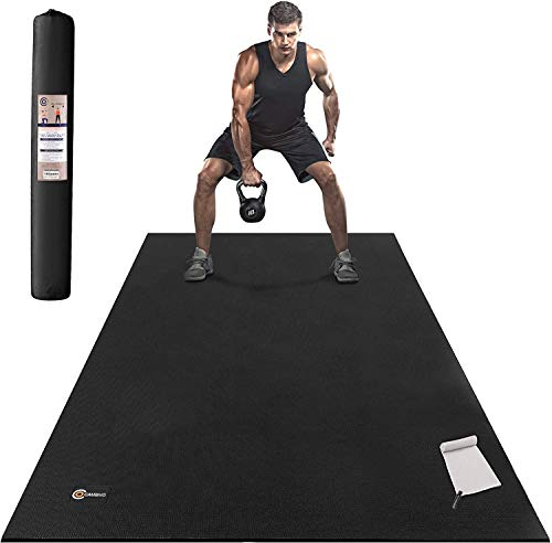 CAMBIVO Large Exercise Mat 6'x4'x7mm Thick Workout Mats for Home Gym...