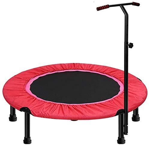 BRFDC Trampolin Fitness El Ejercicio trampolín for Adultos o niños Mini trampolín con la Aptitud Ajustable Barra en T Mango Estabilidad aeróbica Gorila trampolín for Gym/Inicio, 40 Pulgadas