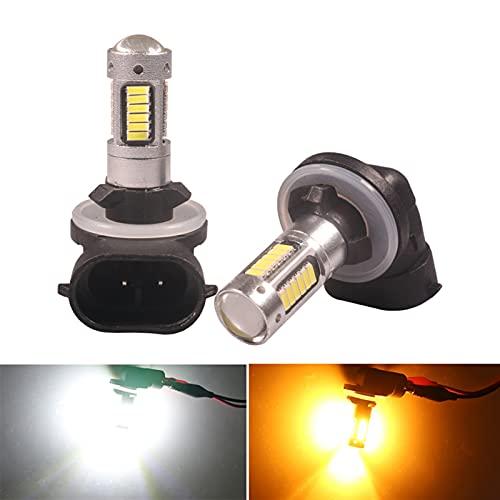 ScottDecor Lámpara 2 unids H27 H27W / 2 880 881 LED Luces de Niebla de automóviles LED 4014-30SMD AUTOMÁTICO AUTOMÁTICO FOT Fog Front FRAP DRL White Amber 12V