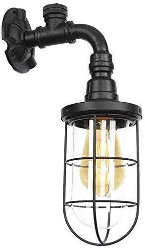 Wandlamp Wire Cage Vintage Industriële Bird Cage Retro smeedijzeren waterpijp verlichting mini kooi lampenkap Sconce voor huis, villa, bar,