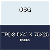 OSG テーパーエンドミル TPDS_5X4゚_X_75X25 商品番号 85065