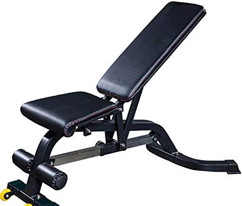 Candtong Gewichtheben Bett, verstellbar/Faltbare Heimfitness-Gewichtheben Bett, verstellbare Rückenplatte, praktisch Stahl Hantel Stuhl, Turnhalle Gewichtheben Krafttraining