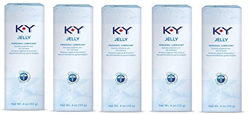 K-Y Jelly Personal Water Based Lubricant, 4 oz, 5 Bottles
