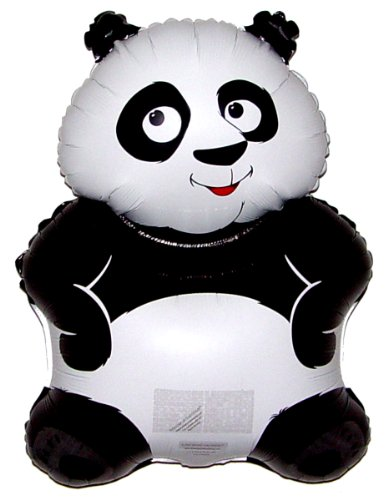 SPACE PET BIG PANDA 34 inch STRINGLESS FLYING PET Balloon ANTI-GRAVITY TOY HOVERS and FLOATS in MID-AIR - Includes Height Control Weights