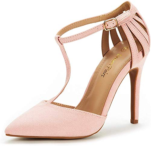 DREAM PAIRS Women's Oppointed-Mary Pink Fashion Dress High Heel Pointed Toe Wedding Pumps Shoes Size 11 M US