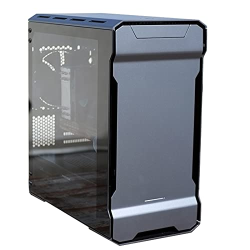 WSNBB Caja De PC para Juegos, Caja ATX, Host De Computadora De Escritorio Refrigerado por Agua, MATX / 280 Refrigerado por Agua/Equipado con 14 Ventiladores X2 (Color : Silver)