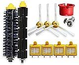 NICERE Kit de repuesto para aspiradoras iRobot Roomba 700 Series 760 770 780 790 Robotic Vaccum Cleaner 12 Filtros 12 Cepillos Laterales 12 Tornillos (Color: Estilo a)