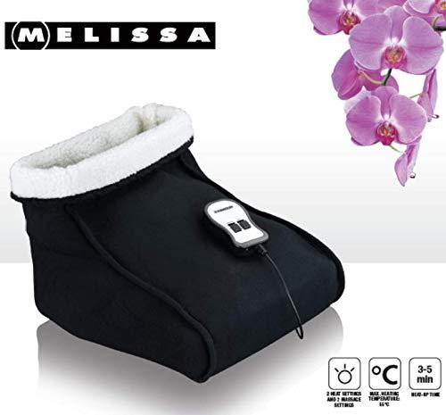 Preisvergleich Produktbild Melissa 16770038 Elektrischer Fußwärmer mit Massage-Funktion Heizschuh Fußsack Webpelz