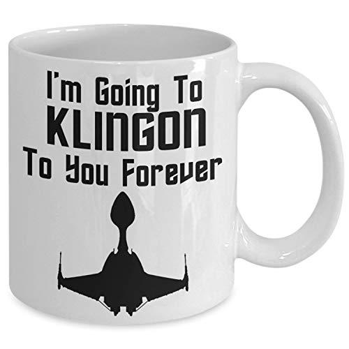 Thomas655 Klingonische koffiemok, cadeau voor trekkers, trekkers, trekkers, sciencefiction-fans, nerds geeks Star Trek verzamelaars, Memorabilia Collection Cling On to You